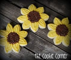 sunflower cookies | sunflower baby shower