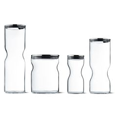 Alfredo container glass w. stainless steel lid by Georg Jensen