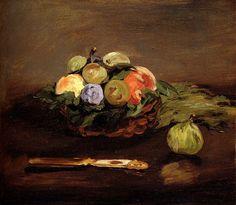 Basket of Fruits - Edouard Manet