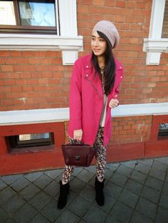 >oversized in pink<