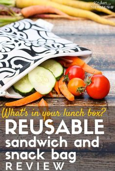 The BEST reusable sandwich and snack bags around! Here's my honest review of a variety of reusable bags.