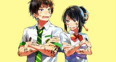 Image about anime in Kimi no na wa by Megan on We Heart It Kimi No Na Wa, Your Name Anime, Makoto, Cinema Film, Fan Art, Animation, Illustrations, Studio Ghibli, Me Me Me Anime