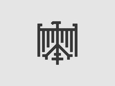 German Eagle (Bundesadler) designed by Studio du Nord. God Tattoos, Symbol Tattoos, Body Art Tattoos, Sleeve Tattoos, Tatoos, German Symbols, Medieval Banner, German Tattoo, Card Tattoo Designs