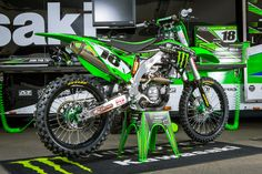 Kawasaki Team Monster Energy Kawasaki - Supercross 2015 Kawasaki Team Monster Energy Kawasaki - Supercross 2015 Kawasaki Team Monster Energy Kawasaki - Supercross 2015 List the 2019 Kawasaki. Cool Dirt Bikes, Dirt Bike Gear, Mx Bikes, Dirt Biking, Sport Bikes, Monster Energy, Kawasaki Dirt Bikes, Kawasaki Motorcycles, Kawasaki 250