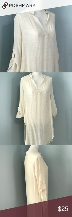 Lightweight Cream Tunic Lightweight Tunic Tops Tunics