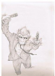 Hit Monkey Monkey, Sketches, Drawings, Art, Art Background, Monkeys, Kunst, Gcse Art, Doodles