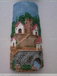 Via: teja pueblo Diy Crafts Slime, Slime Craft, Clay Crafts, Fun Crafts, Arts And Crafts, Decoupage, Clay Wall Art, Clay Art Projects, Roof Tiles