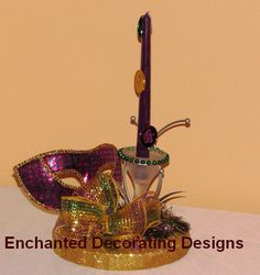 Mardi Gras Decorations Candle Wedding Theme by Decorations12, $18.99