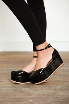 Jeffrey Campbell Suebee ankle strap platform.