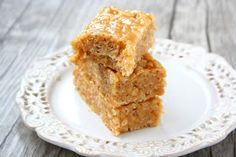 Rice Krispie Treats made healthy without marshmallows. With only 3 ingredients you can mix these up in a few minutes. You may subst...