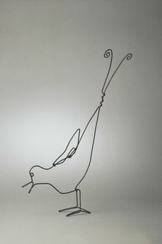 Calder - Early Bird, 1954 Brass wire Calder Foundation, NY A12004
