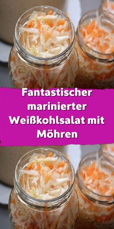Fantastic marinated white cabbage salad with carrots- Fantastischer marinierter Weißkohlsalat mit Möhren Our mums could sometimes be within half a … - Healthy Dinner Recipes, Diet Recipes, Grilling Recipes, A Food, Good Food, Planning Menu, Cabbage Salad, Metabolic Diet, 21 Day Fix