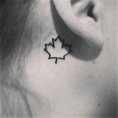 Maple leaf tattoo #Canada                                                                                                                                                      More