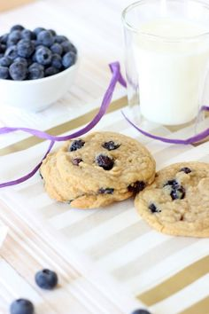blueberry cookies. **These were amazingly good! I made them with white chocolate chips and they were gone the next day. I like them better without the chips. Any way you make them, they are awesome!! Nds