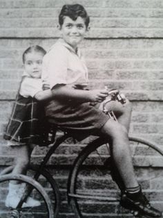 Stanley Kubrick as a child. Pictured with his little sister Barbara.