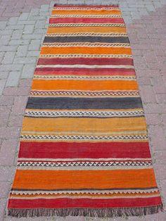 "Anatolian KURDISH Malatya Kilim Rug Runner Carpet 29 5"" x 94 8"" | eBay"
