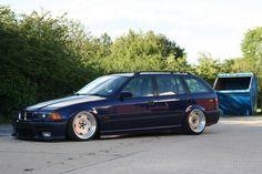 Dark blue e36 touring on OZ Breyton wheels
