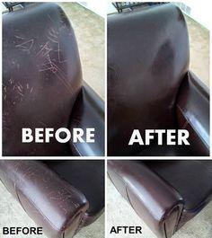 Bőrről karcolások eltüntetése : egy kis rongyra csöpögtess olívaolajat és dörzsöld át vele a felületet, majd papírtörlővel töröld át.
