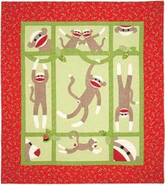 My friend Debbie loves sock monkies, so I couldn't resist pinning this #quilt! :)