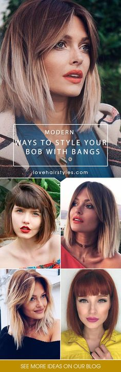 A bob with bangs is the first thing that comes to mind when you start thinking about short hairstyles. And there is no wonder why as it seems that this cut has been popular forever and so it will stay.#bobhaircut #bobwithbangs #shorthaircuts