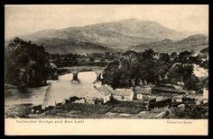 Ben Ledi Callander bridge old mountain UK town postcard | eBay