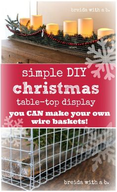DIY Wire Basket ~~~via Breida with a b.