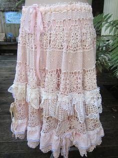 Vintage Kitty vintage crochet romantic full by sistersroseandruby, $289.00