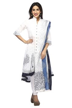 Biba Ladies Cotton Churidar Kurta Dupatta Set, C For WOMEN, Clothing | Shoppers Stop