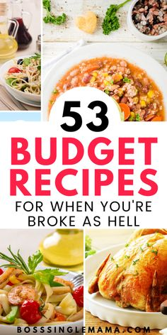 53 Dirt Cheap Meals for Frugal Families on a Tight Food Budget Dirt Cheap Meals, Cheap Meals To Make, Cheap Dinners, Easy Food To Make, Quick Easy Meals, Cheap Meals For Dinner, Cheap Food, Weeknight Dinners, Food Budget