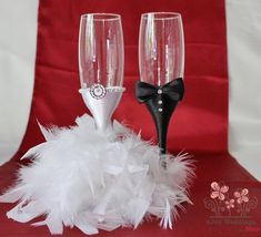 His and hers glasses His and hers wedding glasses His and hers champagne glasses His and hers toasting flutes his and hers reception glasses Bride And Groom Glasses, Wedding Wine Glasses, Wedding Gifts For Bride And Groom, Wedding Champagne Flutes, Best Wedding Gifts, Champagne Glasses, Bride Gifts, Bride Groom, Wine Glass Crafts
