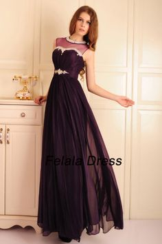 Hey, I found this really awesome Etsy listing at https://www.etsy.com/listing/179685503/chiffon-prom-dress-2014-purple-evening
