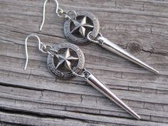Hey, I found this really awesome Etsy listing at https://www.etsy.com/listing/260387052/spike-earrings-star-earrings-rocker