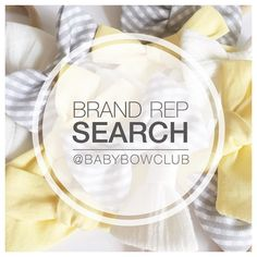 [I am very excited to announce that we are running our next #brandrepsearch!! I am looking for a few stylish little girls who LOVE bows to join the Baby Bow Club team. The search is open to little girls anywhere in the world aged from newborn to 6 years old. The search will start today and run until next Thursday 27th October 2016. Current club members are encouraged to enter and their subscription will be updated accordingly.  To be in the running all you have to do is: 1. Follow us…