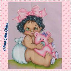 Artes Ana Vilela : Pintura em tecido bebê