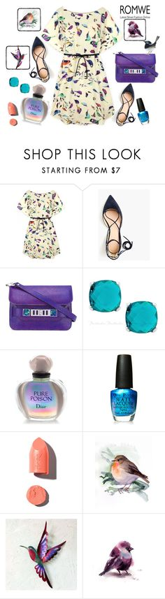 """Untitled #429"" by kat-van-d ❤ liked on Polyvore featuring J.Crew, Proenza Schouler, Christian Dior, OPI, PUR, NOVICA and romwe"