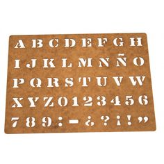 Plantillas de Estarcido con letras,números,palabras,íconos. La guinda del pastel en tus proyectos de scrapbook, decoración, manualidades, estarcido, embosing.