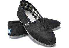 shoes.   I thought I'd never own ugly Toms but these are 'earthwise'!