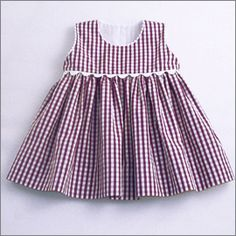 Grape Gingham Pinny