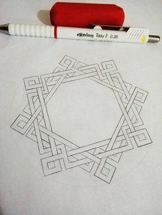 Motifs Islamiques, Islamic Motifs, Islamic Art Pattern, Arabic Pattern, Geometry Pattern, Pattern Art, Geometric Drawing, Geometric Art, Geometric Designs
