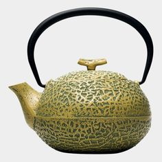 Cast iron melon teapot