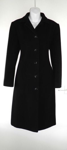 VTG 90s Goth Grunge YESSICA Long Winter Wool Cashmere Coat Jacket Womens 14 42 L 20.59