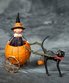 Loving this Piper's Pumpkin Ride Figurine on #zulily! #zulilyfinds