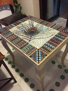 Resultado de imagen para mosaic table top