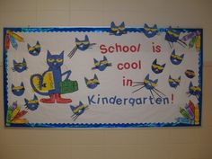 Pete the Cat back to school bulletin board
