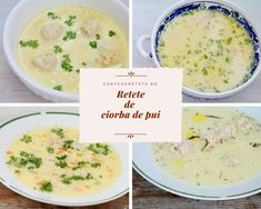 Am ales 4 retete de ciorba de pui pentru ca sunt retete rapide si cu ingrediente simple, pe care oricine le poate prepara. Retete ca la mama acasa! Supe, Cheeseburger Chowder, Mai, How To Make, Food, Essen, Meals, Yemek, Eten