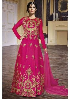 rose Mandori costume Anarkali de soie, - 168,00 €, #Tenueindienne #Tenuebollywood #Tenuepakistanaise #Shopkund