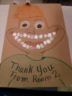Thank you card for dentist guest