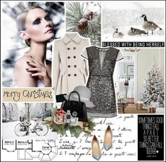 """Silvery Holidays"" by angielou ❤ liked on Polyvore"