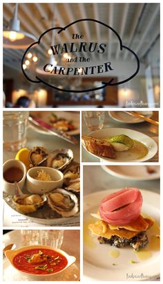 The Walrus and the Carpenter - Are you looking for ideas about what to do, where to eat in Seattle? This site is full of ideas for first time visitors to Seattle.