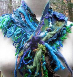 Cashmere wool patchwork NECKWARMER/ Scarf/ Wrap by amberstudios, $54.00